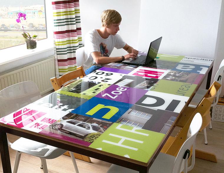 Hofbogen ondernemer: Tafel-design, tafel op maat, Reclameborden Designtafel