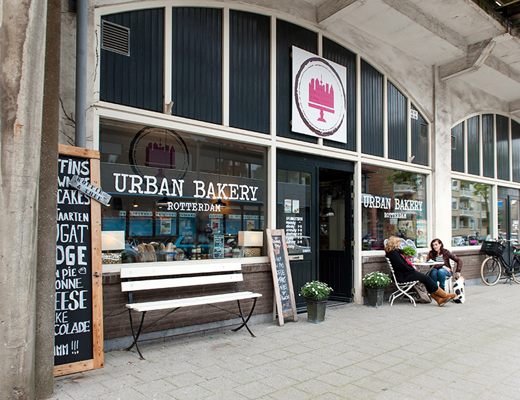 Hofbogen ondernemer: Urban Bakery, Terras
